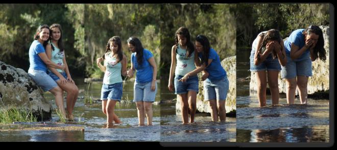No meio do rio, muitas sensações!
