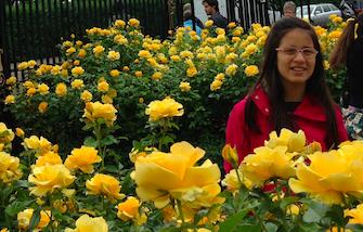 Sorriso lindo, lindas rosas!